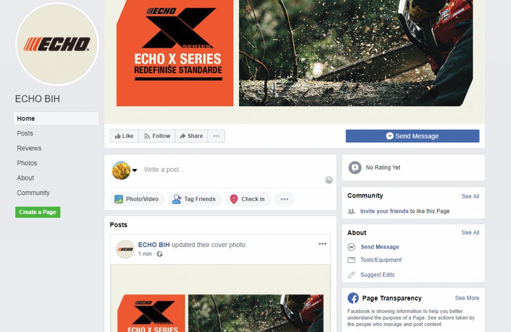 ECHO BIH na facebook i instagram stranicama